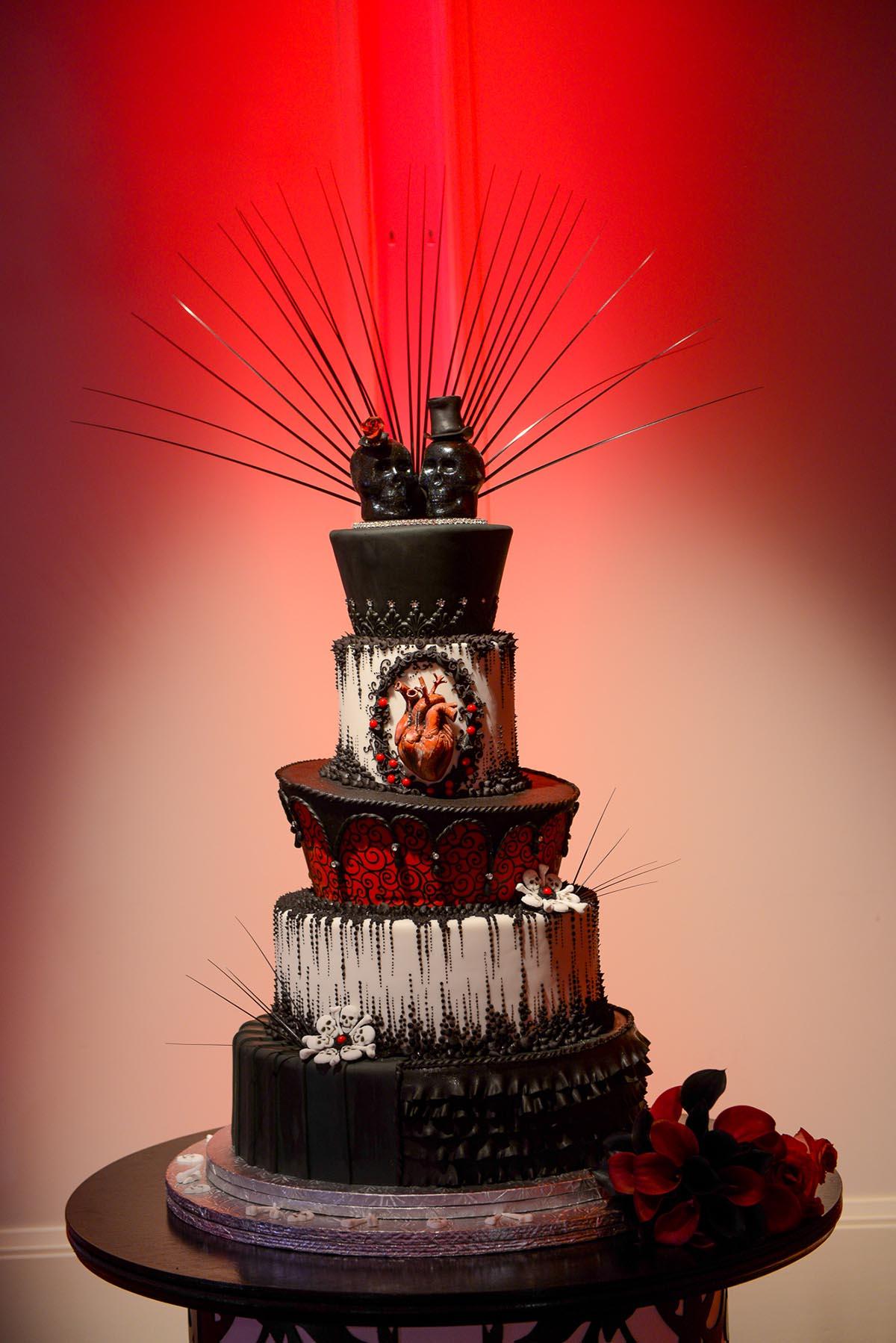 Wedding Cake Wednesday: Gothic Cake   Disney Weddings