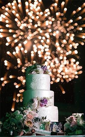 Wedding Cake Wednesday New Year S Eve Fireworks Disney Weddings