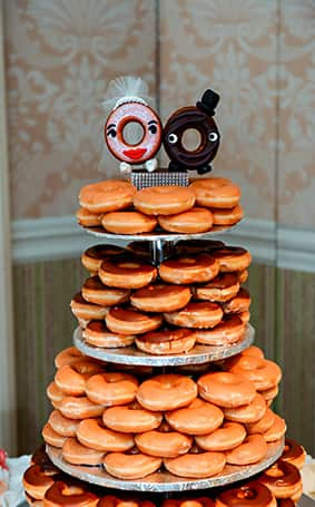 Wedding Cake Wednesday Donut Tower Disney Weddings
