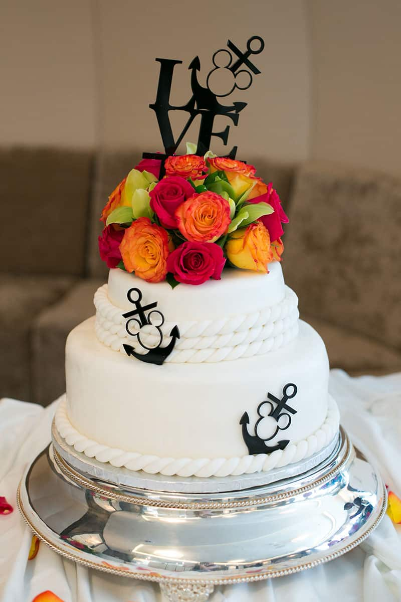 Wedding Cake Wednesday: Disney Cruise Line Nautical | Disney ... Disney Wedding Cake Toppers