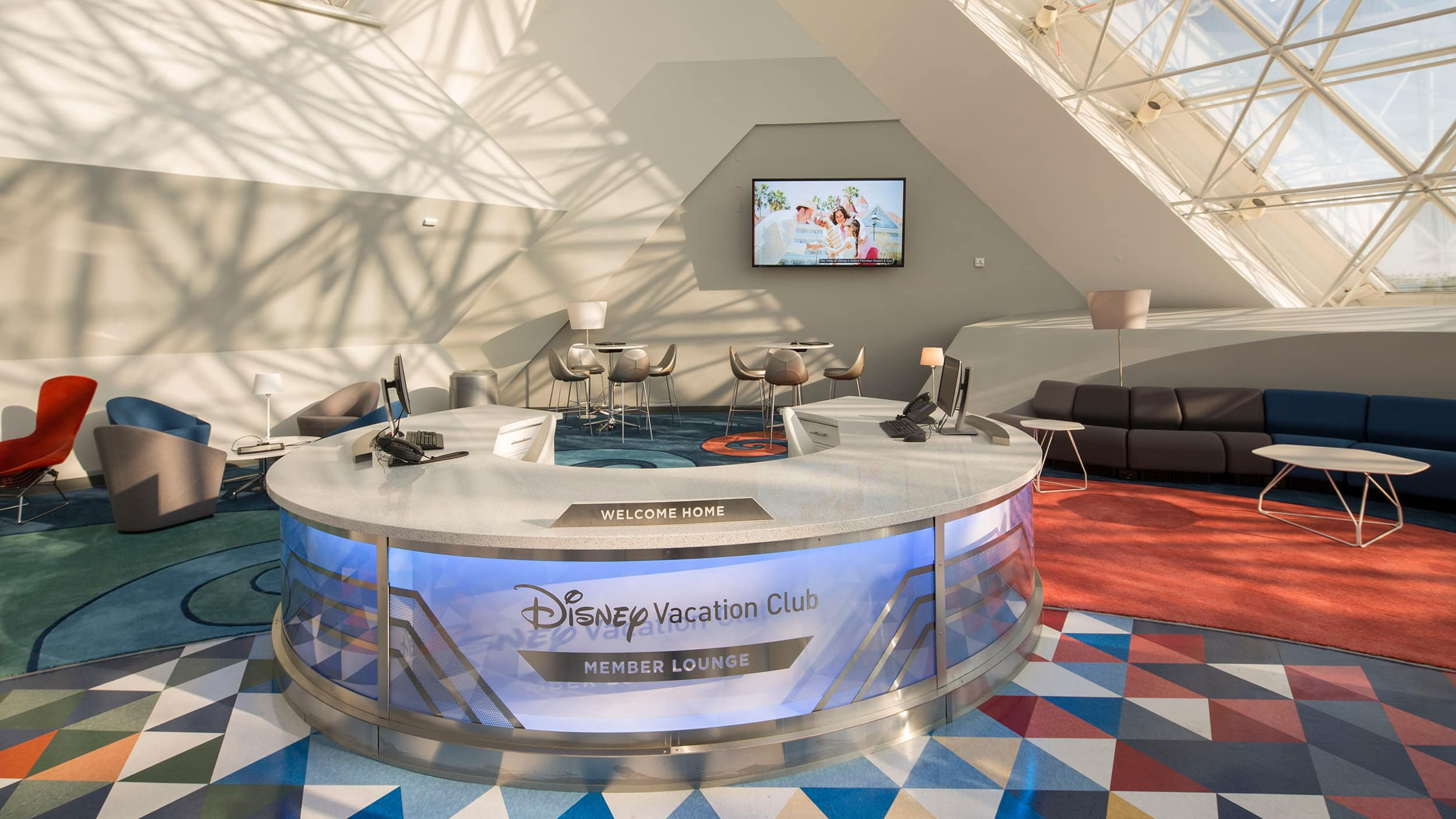 The interior of the Member Lounge at Epcot
