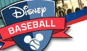 Logo with Mickey Mouse ears and the words 'Disney Baseball'