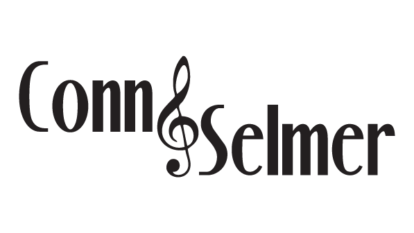 A Conn and Selmer logo featuring a musical note