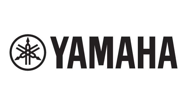 A Yamaha logo featuring a tuning fork